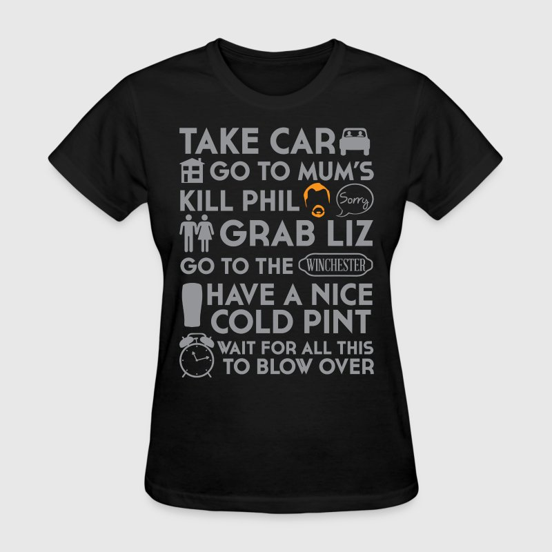 SHAUN OF THE DEAD TO DO LIST Women's T-Shirts - Women's T-Shirt