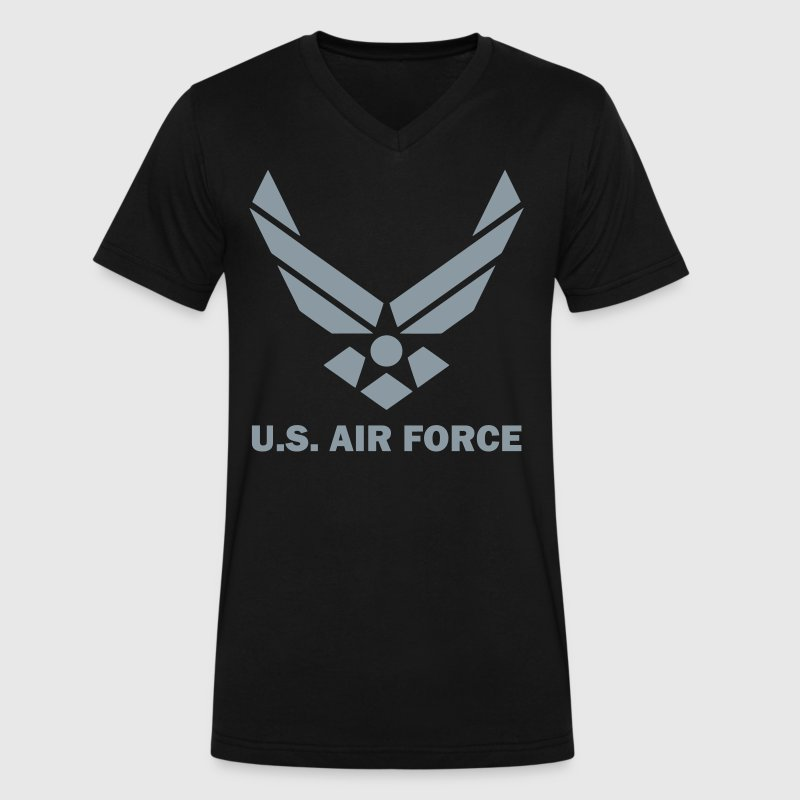 U.S. Air Force T-Shirts - Men's V-Neck T-Shirt by Canvas