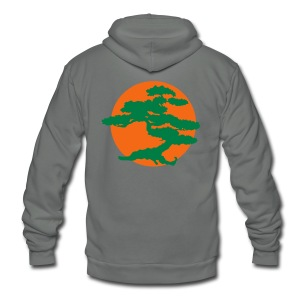 Bonsai Tree - Unisex Fleece Zip Hoodie by American Apparel