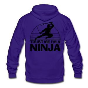 Trust Me I'm A Ninja - Unisex Fleece Zip Hoodie by American Apparel
