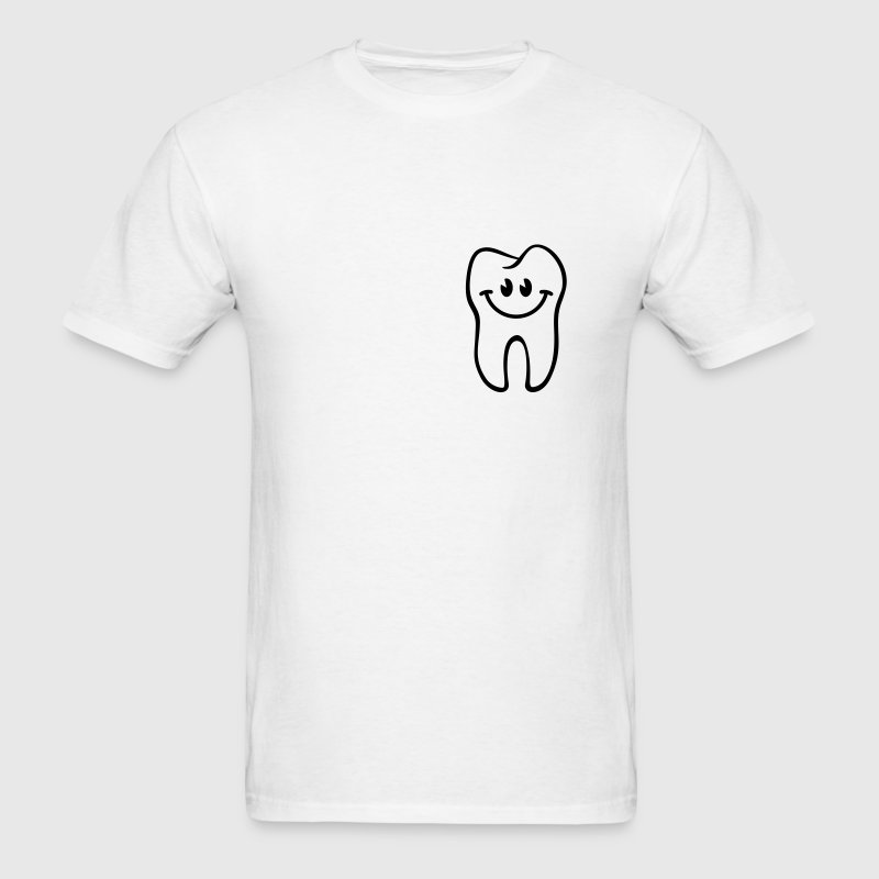 Tooth- / Dent- / Diente- / Dente- / Zahn-Smiley T-Shirts - Men's T-Shirt