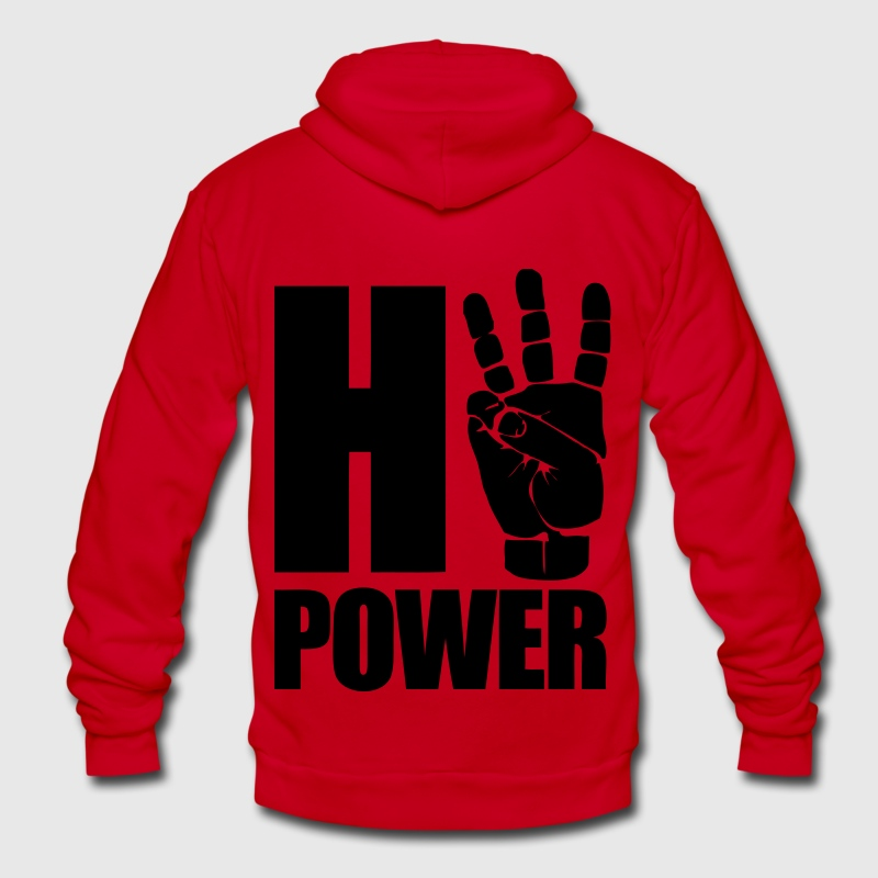 HiiiPower Zip Hoodies/Jackets - Unisex Fleece Zip Hoodie by American Apparel