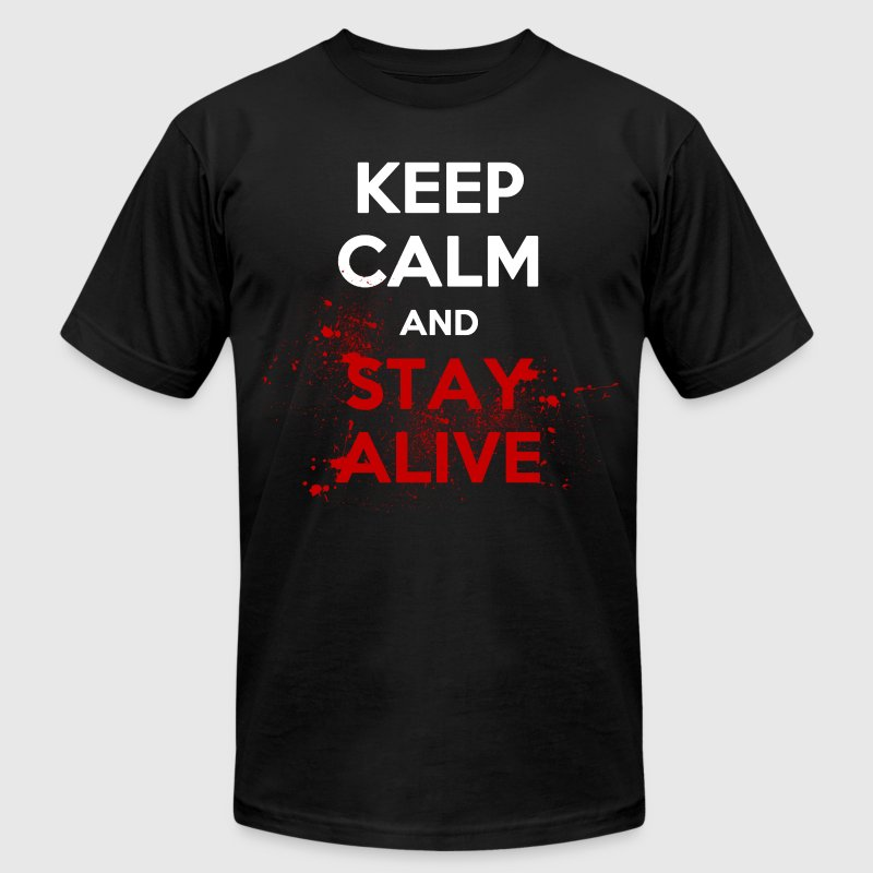 Stay Alive T-Shirts - Men's T-Shirt by American Apparel