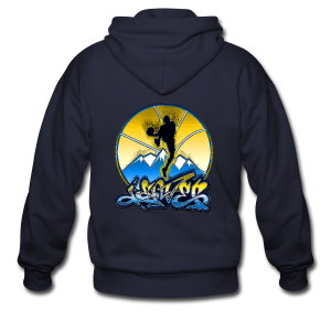 Denver - Blue and Yellow - Mens - Men's Zip Hoodie