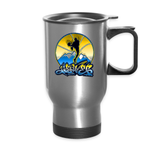 Denver - Blue and Yellow - Mens - Travel Mug