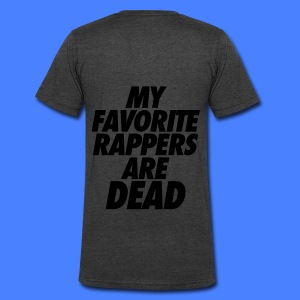 My Favorite Rappers Are Dead Zip Hoodies/Jackets - Men's V-Neck T-Shirt by Canvas
