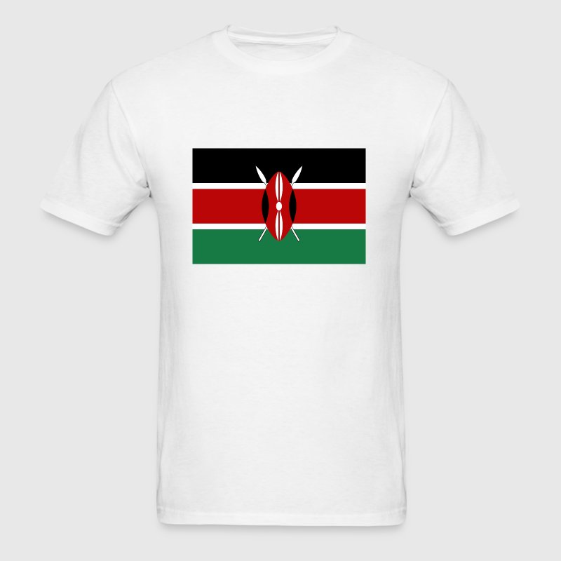 Kenya Flag T-Shirt - Men's T-Shirt