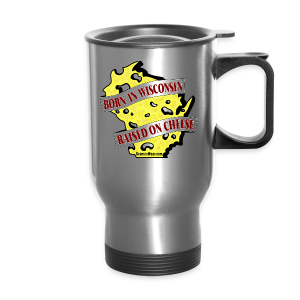 Raised on Cheese (Digital Print) - Travel Mug