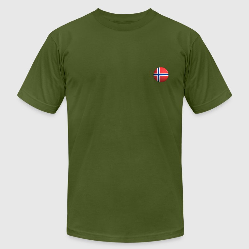 Country Button Flag Norway - Men's T-Shirt by American Apparel