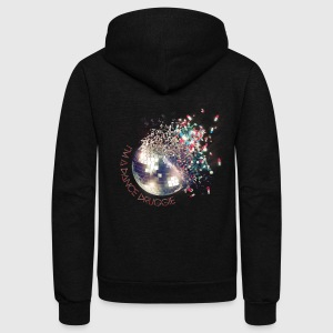 I'm A Dance Druggie Exploding Disco Ball.png Women's T-Shirts - Unisex Fleece Zip Hoodie by American Apparel