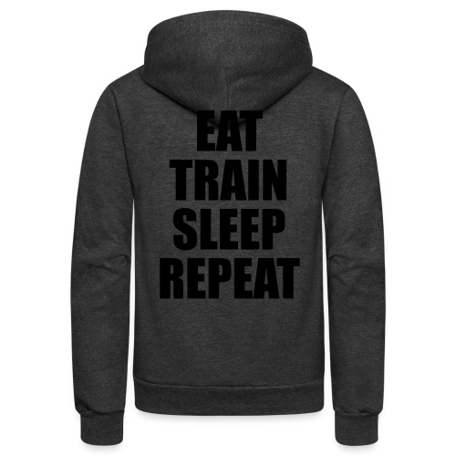 Eat Train Sleep Repeat - Unisex Fleece Zip Hoodie