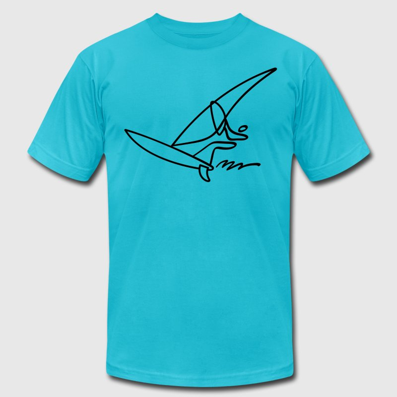 Extreme Windsurfing T-Shirts - Men's T-Shirt by American Apparel