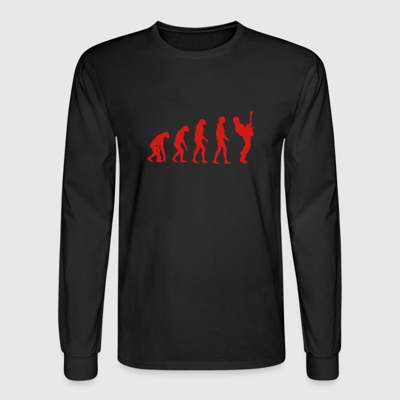 bass player evolution Long Sleeve Shirts - Men's Long Sleeve T-Shirt