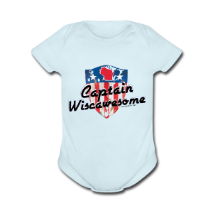 Captain Wiscawesome (Digital Print) - Short Sleeve Baby Bodysuit