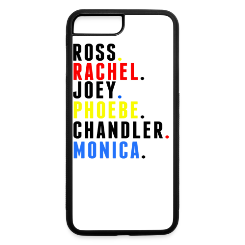 FRIENDS names - Mens - iPhone 7 Plus/8 Plus Rubber Case