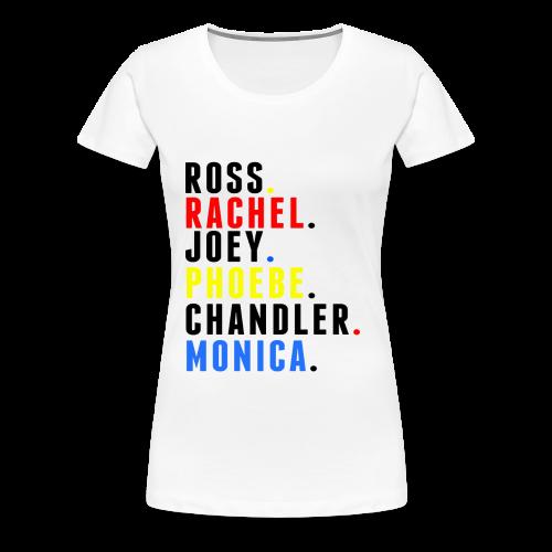 FRIENDS names - Mens - Women's Premium T-Shirt