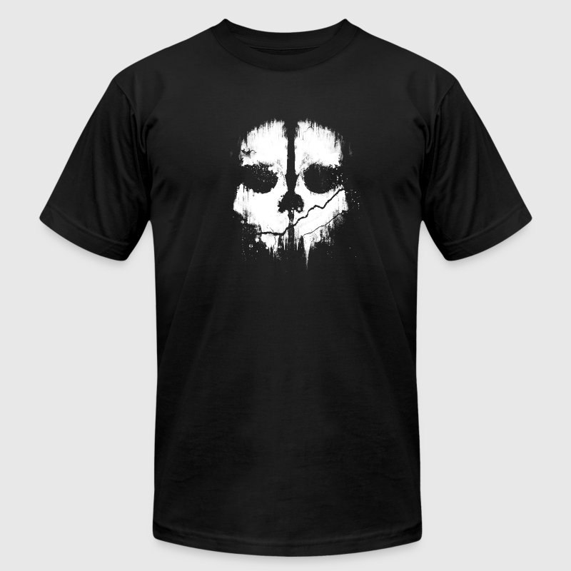 Scary Skull Artwork T-Shirts - Men's T-Shirt by American Apparel