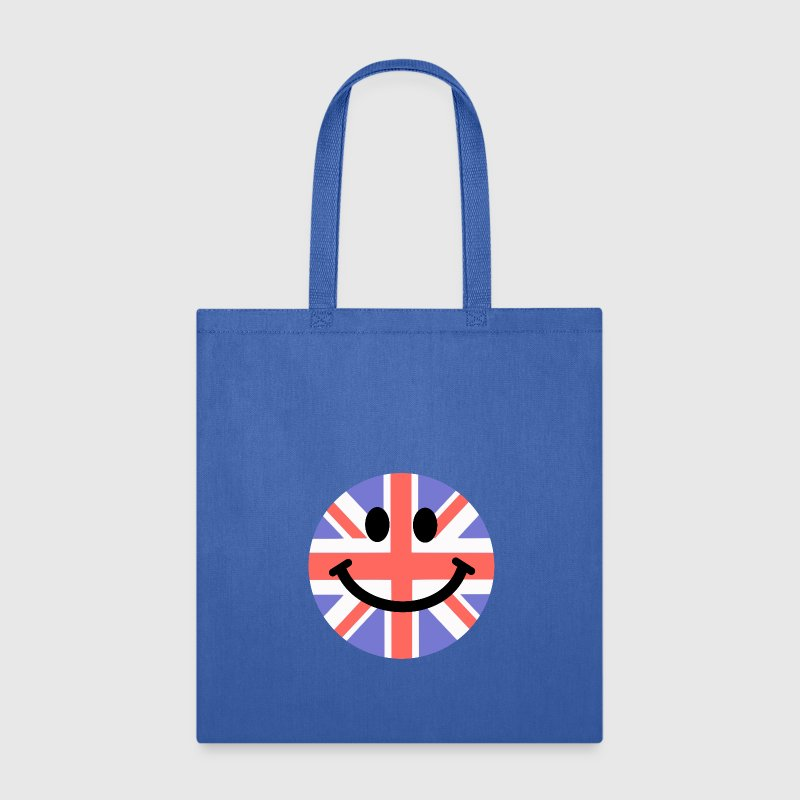 British Flag Smiley Face Bags & backpacks - Tote Bag
