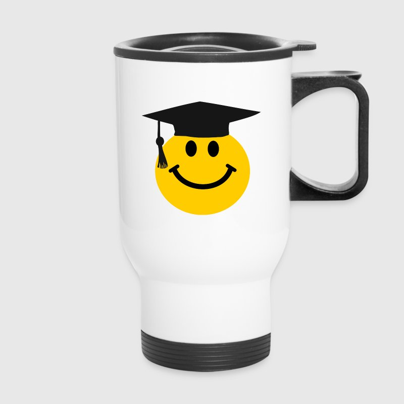 Graduate Smiley face Bottles & Mugs - Travel Mug