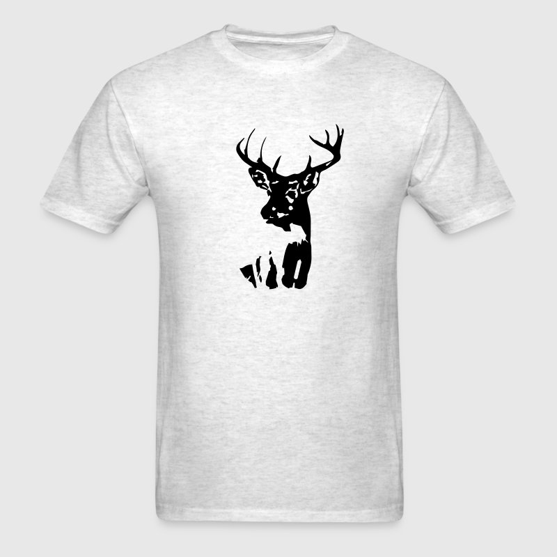 Whitetail Deer Mens Standard T-shirt Gray - Men's T-Shirt
