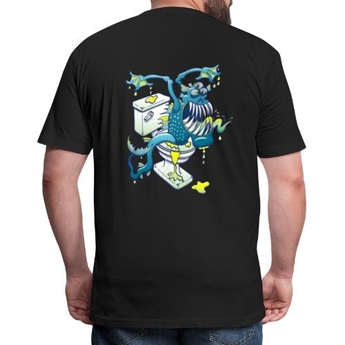 Toilet Monster - Fitted Cotton/Poly T-Shirt by Next Level