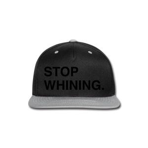 Stop Whining (Asphalt) - Snap-back Baseball Cap