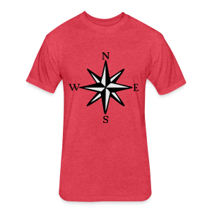 Wind Rose T-Shirt (Men) - Fitted Cotton/Poly T-Shirt by Next Level