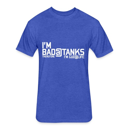 Bad@Tanks (Women) - Fitted Cotton/Poly T-Shirt by Next Level