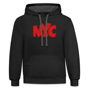 NYC T-Shirt (Women/Red) - Contrast Hoodie