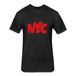 NYC T-Shirt (Women/Red) - Fitted Cotton/Poly T-Shirt by Next Level