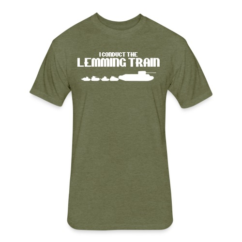 Lemming Train - Fitted Cotton/Poly T-Shirt by Next Level