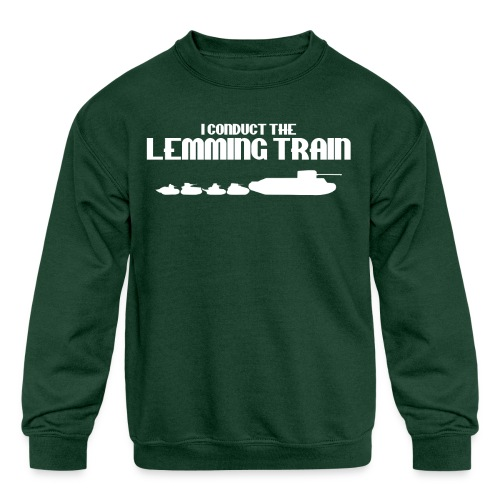 Lemming Train - Kids' Crewneck Sweatshirt