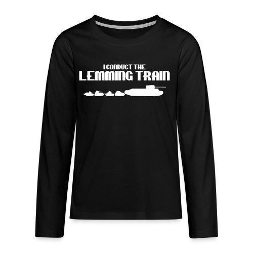 Lemming Train - Kids' Premium Long Sleeve T-Shirt