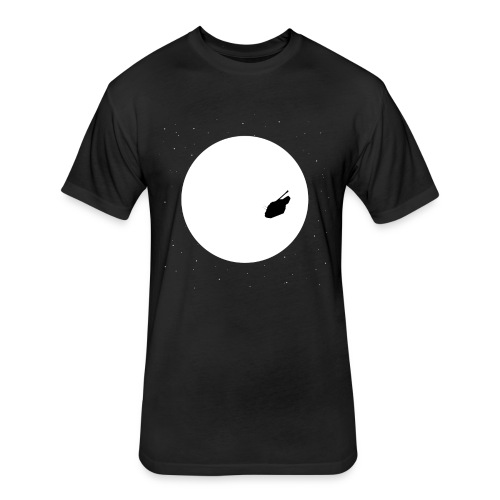 Fly Me To The Moon - Fitted Cotton/Poly T-Shirt by Next Level
