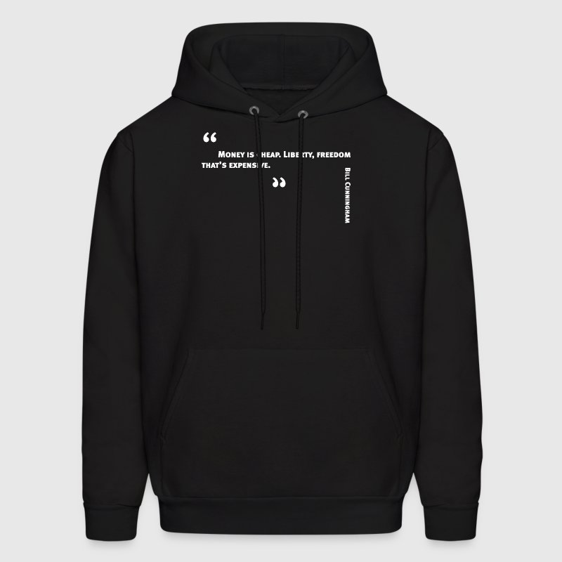 Photographer Bill Cunningham quote: Money is cheap - Men's Hoodie