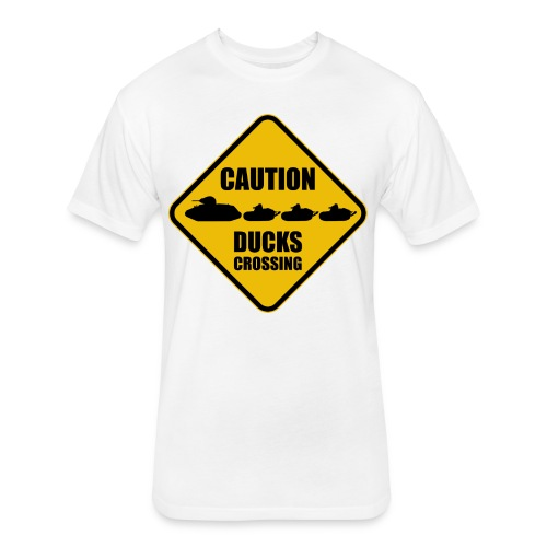 Ducks Crossing - Fitted Cotton/Poly T-Shirt by Next Level