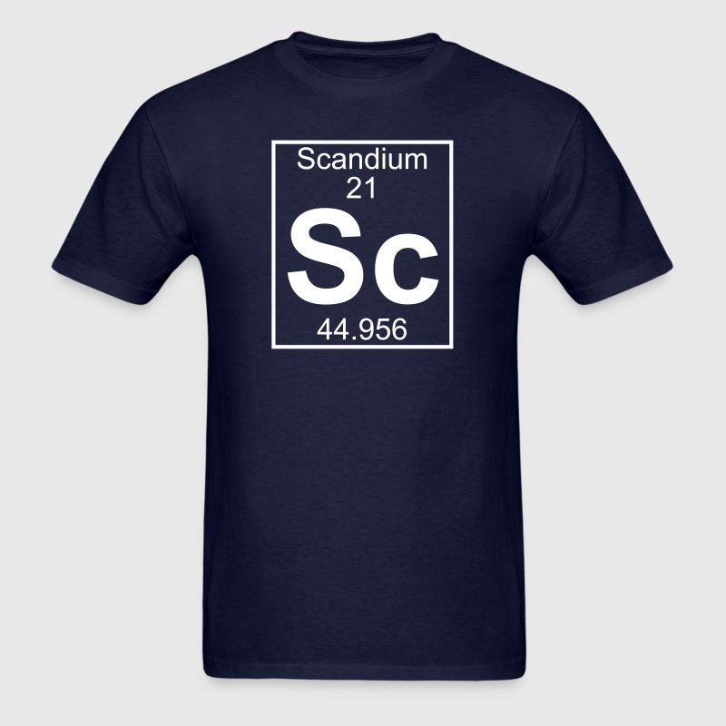 Element 021 - Sc (scandium) - Full T-Shirts - Men's T-Shirt