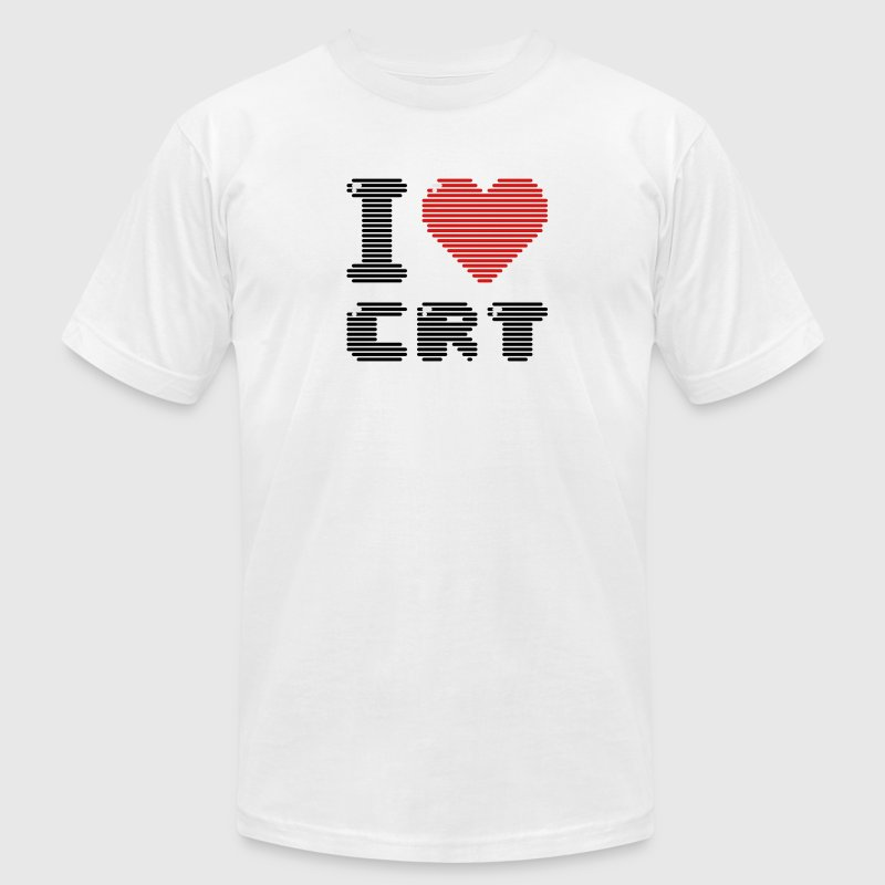 I Love CRT T-Shirts - Men's T-Shirt by American Apparel