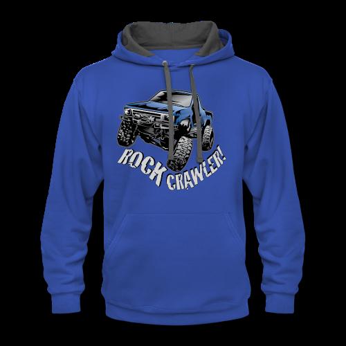 Cool Blue Rock Crawling Truck - Contrast Hoodie