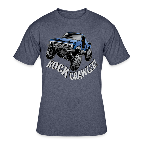 Cool Blue Rock Crawling Truck - Men's 50/50 T-Shirt