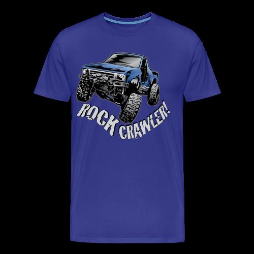 Cool Blue Rock Crawling Truck - Men's Premium T-Shirt