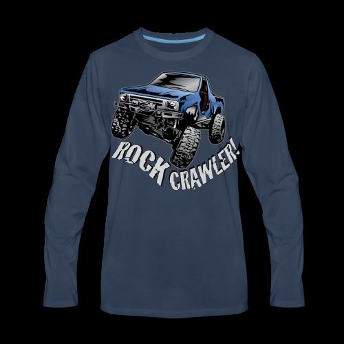 Cool Blue Rock Crawling Truck - Men's Premium Long Sleeve T-Shirt