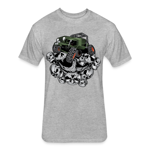 Grim Jeep - Fitted Cotton/Poly T-Shirt by Next Level