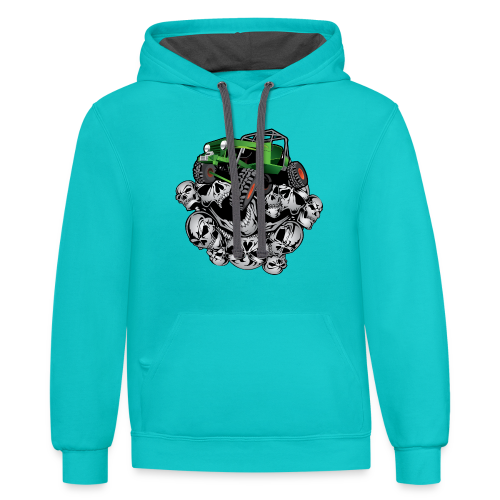The Green Grim Jeeper - Contrast Hoodie