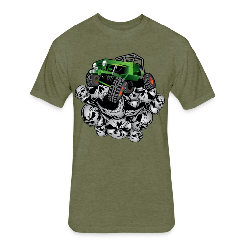 The Green Grim Jeeper - Fitted Cotton/Poly T-Shirt by Next Level
