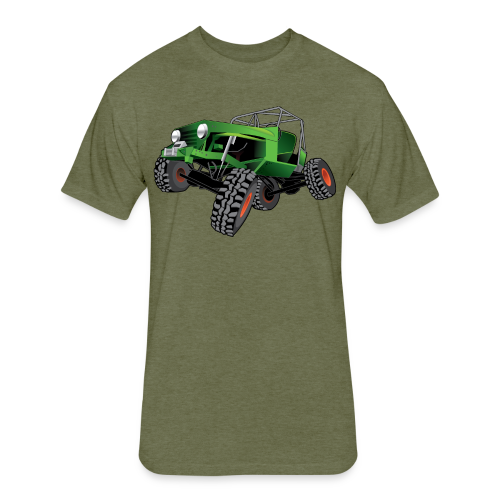 green jeep shirt - Fitted Cotton/Poly T-Shirt by Next Level