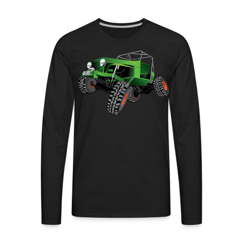 green jeep shirt - Men's Premium Long Sleeve T-Shirt