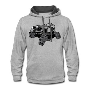 grey jeep shirt - Contrast Hoodie