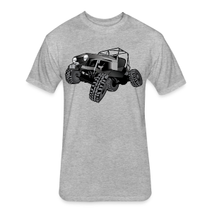 grey jeep shirt - Fitted Cotton/Poly T-Shirt by Next Level