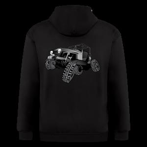 grey jeep shirt - Men's Zip Hoodie